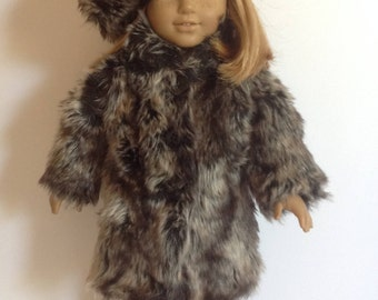 18 Inch Doll Clothes-One of a kind Fur Coat, Hat and Boots