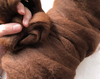 Paco-Vicuna Roving - Premium Grade 0, Available in 5 Natural Colors - Sold by the Ounce