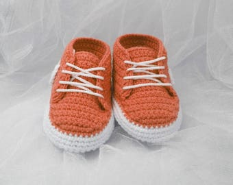 Crochet baby shoes Baby sneakers Baby booties Sneakers shoes, Newborn baby gift, Baby boy gift, Kids slippers, Gift for baby, Baby slippers,