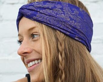 Blue Boho Headband