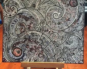 Spirals square canvas