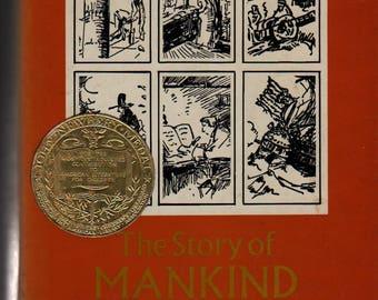 The Story of Mankind – Newbury Medal - Hendrik Willem van Loon - 1972 - Vintage History Book