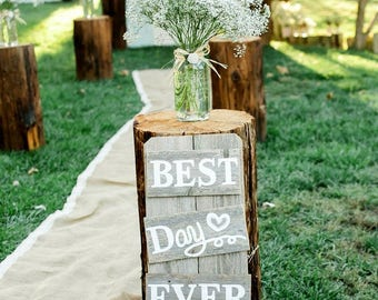 Rustic Wedding Rehearsal Dinner Signs Decorations Weddings Sings Package Hand Painted Reclaimed Wood. Rustic Weddings. Country Farm Wedding