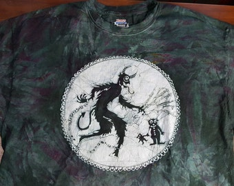 Krampus Batik 3XL Unisex Shirt  XXXLarge