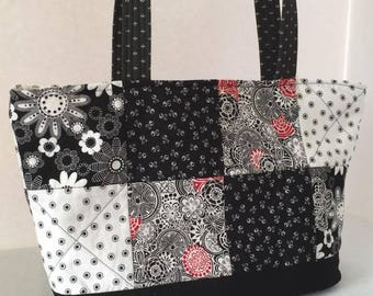 Patchwork Quilted Tote - SALE ITEM - Discontinued