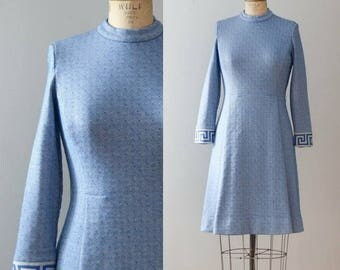 Vintage 1970's Anthora Wool Dress