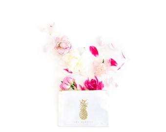 Pineapple Cosmetic Bag, Bridesmaid Makeup bag, Pineapple Makeup Bag, Girly Makeup Bag, Tropical Bridesmaid Makeup Bag, Makeup, Pineapple