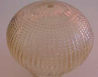 "Victorian Shade 5"" Beaded Embossed Vanilla Glass Ceiling Lamp Light Fixture Cover"