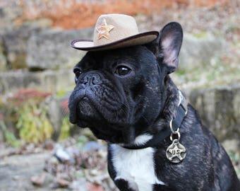 Star Dog Tag Pet ID Tag Dog Collar Tag Custom Dog ID Tag Pet Tags Personalized Dog Tags Western Gifts US Marshal