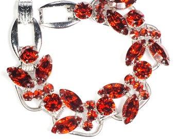 Juliana D&E Burnt Orange Rhinestone Bracelet