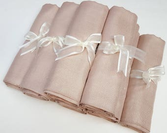 10 SET NUDE ( light beige) PASHMINA ShawlL. Nude Shawl. Bridesmaid gifts. Bridesmaid shawls. Pashmina Scarf. Wedding favor.