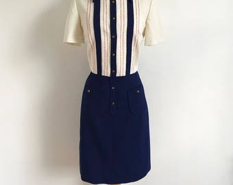 Vintage 1960s Route One Coast to Coast Mod Scooter Dress - Medium