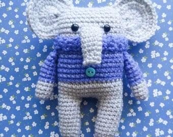 Cloud the Elephant - Crochet Elephant - Amigurumi - Stuffed Animal - Cozy Critter