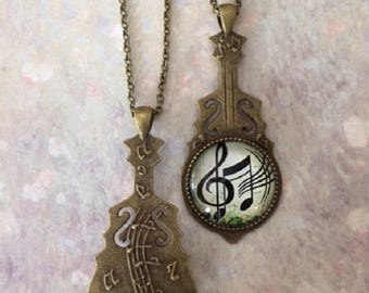 Music Notes - Music Note Necklace - Music Note Jewelry - Musical Note Necklace - Muscian Gifts - Muscian Jewwlry - Muscian Necklace - Music