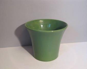 Vintage Bauer Green Planter Jardiniere Flower Pot 6 Inch