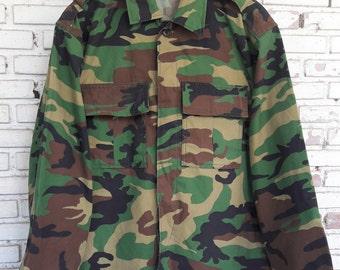 Vintage Military Camo Jacket / Vintage Camo Jacket / Vintage Army Jacket Size: L