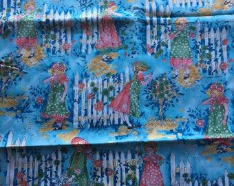 """Vintage Holly Hobbie Fabric // 66x44"""" > American Greetings, Manes Organization > Unused"""