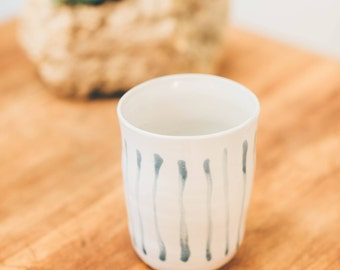 Striped Ceramic Utensil Holder