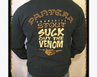 1997 Pantera Snakebite Stout Long Sleeve Original Concert TShirt, Size XL, 97 Suck Out the Venom Band T Shirt, 1997 Vintage Pantera Shirt