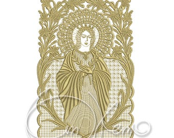 MACHINE EMBROIDERY DESIGN - Mother of God embroidery design, Virgin Mary embroidery, Mother of Jesus embroidery, St. Mary embroidery