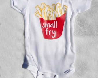 small fry onesie - funny baby onesie - cute baby onesie - french fry onesie - cute boys onesie - cute girls onesie - baby gift - baby shower