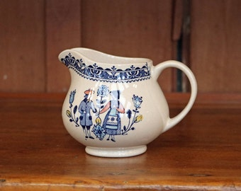 "FREE U.S. SHIPPING ~ ""Hearts and Flowers"" ~ Cream/Creamer Pitcher ~ Johnson Brothers ~ England ~ Old Granite ~ Staffordshire ~ Ironstone"