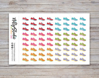 Running, Walking Stickers | Exercise Stickers | Planner Stickers | The Nifty Studio [156]