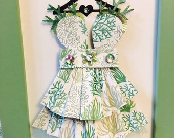 Sea Coral Enchanted Paper Dress!!