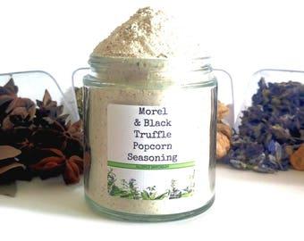 Morel & Black Truffle Gourmet Popcorn Seasoning Topping Flavoring Spice Mix Foodie Gift