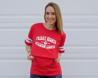 FREE SHIPPING Football / Football Shirt / Football Mom Shirt / High School Football Shirt / Friday Night Football Shirt  Friday Night Lights