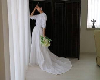 wedding skirt,white maxi skirt,bridal skirt,white cotton dress,wedding separates,boho maxi skirt,cotton maxi dress,simple wedding dress,