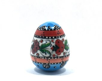 Painted Ceramic Egg Art, Painted Egg, Hand Painted Egg, Ceramic Egg, Colorful Egg, Egg Art, Eggs, Hand Painted Egg (FREE SHIPPING!!!)