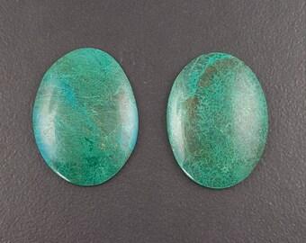 Chyrsocolla Cabochon, 38mm x 28mm, cabochon, cab, rectangular shape, blue green cab, turquoise color, chrysocolla cab,large crysocolla stone