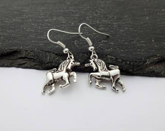 Unicorn Earrings, Charm Earrings, Unicorn Gifts, Unicorn Jewellery, Magical Unicorn, Unicorn Jewelry, Unicorn Gift, Gift For Her