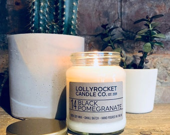 Black Pomegranate Scented Natural Soy Candle