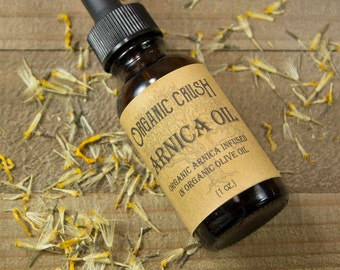 Organic ARNICA OIL | Infused Arnica Oil | Pain Relief | Anti-Inflammatory | Herbal Remedies