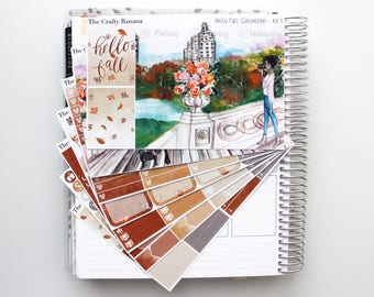 Hello Fall Deluxe Kit 1 - (Scene Kit) Hello Fall Collection  - Autumn Stickers - 7 Sheets