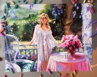 To the Mather's day Custom Portrait painting Wedding portrait Family Portrait Children portrait Personalized pastel portrait from photo