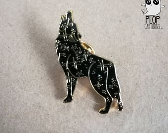 Cosmic Wolf Enamel Pin