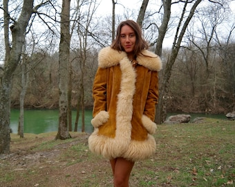 All My Loving - Penny Lane Coat, Shearling Coat, Honey Beige, 70s Vintage Coat, Almost Famous Coat, Sheepskin Coat, Princess Coat