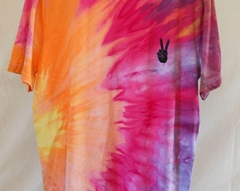 Adult Size Xl - Ready To Ship - Unisex - Festival - Pastel Tie Dyed - T-shirt - 100% Cotton - FREE SHIPPING within Aus