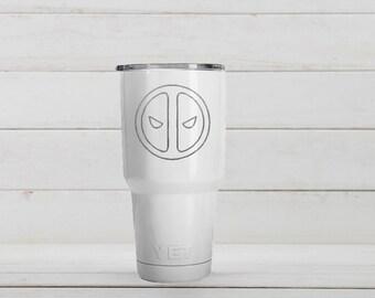 Yeti Tumblers Engraved With Deadpool Personalized Yeti Tumblers 20 oz Deadpool Yeti Gift For Men Deadpool Yeti Rambler 30 oz Gift