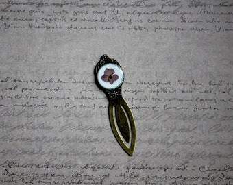 Bookmark round resin and dried hydrangea flower