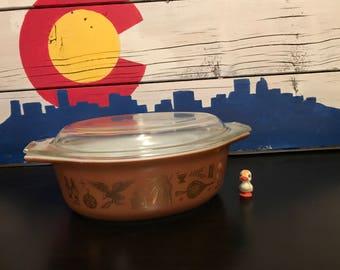 Pyrex Early America Casserole Dish