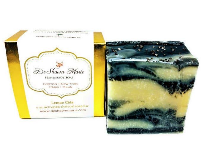 Lemon Chia Activated Charcoal Handmade Soap