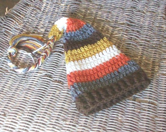 Fall Baby Hat, Striped Elf Hat, Thanksgiving Baby Boy Hat, Crochet Elf Baby Hat, Fall Baby Boy Hat, Warm Winter Baby Hat, Fall Baby Gift