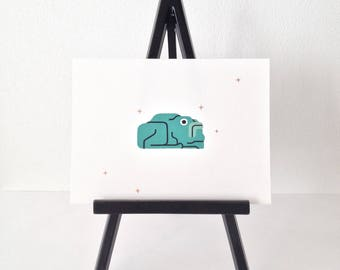 Frog #2- original gouache painting