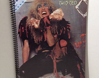Twisted Sister Stay Hungry Album Cover Notebook Handmade Spiral Journal