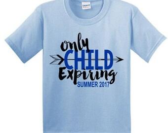 Pregnancy Announcement Shirt, Birth Announcement Shirt, Baby Announcement Shirt, Big Brother Shirt, Only Child Expiring Shirt