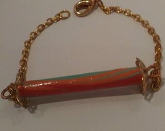 Bracelet chaîne et papier